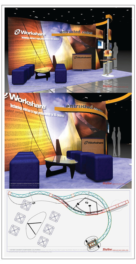 linear booth design